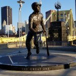 Statue outside the center field entrance