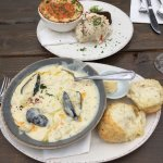 Seafood bubble and seafood chowder. Yum.