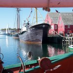View of Museum, Bluenose II and Cape Sable from on board the Theresa E. Connor