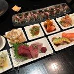 Hamachi truffle (top) and Kaiseki lunch