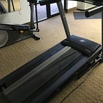 The treadmill is out of comission. Only weights in room were in excess of 35 pounds