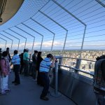 Crowded top level of 'Space Needle' @ Seattle