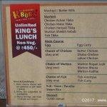 Unlimited Lunch non veg menu