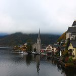 "Walk north of town past the church to the ""viewing point"" to get the classic view of Halstatt"