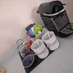 Complimentary tea & coffee. Nespresso machines in every room