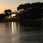 Sunset view of the restaurant from Cala Santandria