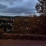 Evening view from hotel over Sowerby Bridge