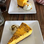Passion Fruit and Mango Cheesecakes