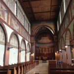 Inside the Abbey of St Hildegard.