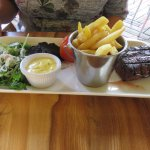 flat iron steak and fries