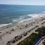Afternoon view of Myrtle Beach from 11th floor Oceanfront room.