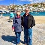 The waterfront in Mykonos
