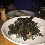 The Kale salad with apples and goat cheese