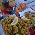 Yummy clams and calamari