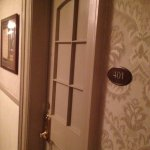 Stanley Hotel photos - including the elevator, the welcome sign, sculptures, redrum staircase, a