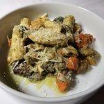 House made rigatoni, roasted fall vegetables, pumpkin seed pesto