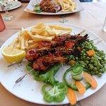 Bacon and shrimp souvlaki (!!!)