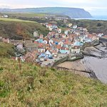 Staithes from the coastal path heading north