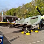 Spitfire at Grosmont for War Years event at North Yorkshire Moors Railway