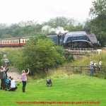 view of NYMR from a camping field.