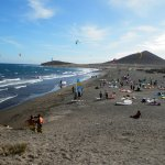 View from El Medano kite surfing area