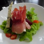Pear with jambon appetizer