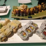 surf n turf roll, California roll, spicy tuna roll, crunchy roll