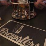 Brewsters; Pub food awesome, beer testers interesting, service excellent.