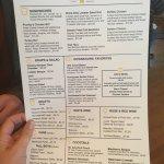 Upstairs menu
