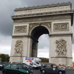 View of L'Arc De Triomphe From Champs Elysees