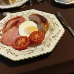 Today I had sausage and tomatoes along with my bacon and egg!