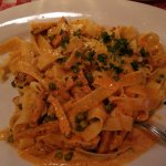 Moncheri Pappardelle in Pink Lady Sauce. Yum!