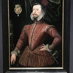 Robert Dudley. Queen Elizabeth's paramour. This outfit designed for the magnificent pageant of 1
