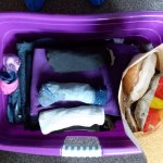 Ellen washed, dried, and carefully folded all of our grubby, muddy clothes along with a bag lunc