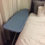 Had to use ironing board as a night stand.