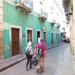 Walking in Guanajuato with my big shopping bag