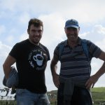 Pat Sweeney Cliffs of Moher hike with his son Allen