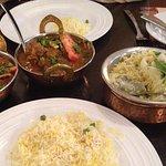 Goat curry and Sabjee Ko Pulau rice