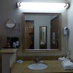Vanity outside bath -- Warwick Best Western Airport Inn
