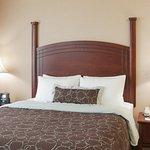 Plush pillow top mattress with a cozy duvet