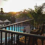 View from Guest Room Balcony Overlooking Pool