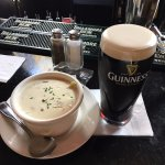 Clam chowder and Guinness at Ned Devine's