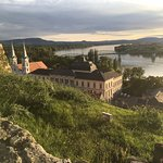 view of the Danube from behind the basilica