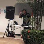 DJ at the pool
