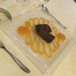 Fondant chocolat, coulis abricot