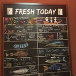 decent choice of daily fresh fish