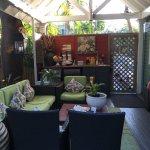 Lounge Ecke überdacht