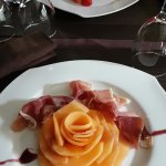 Entrée : Foie gras menu 1, Melon menu 2