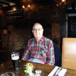 My lovely Dad with his pint