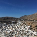 View of Lindos on the way up